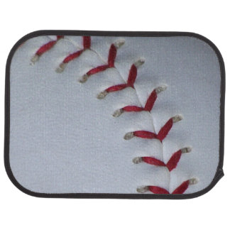 Baseball Stitches Car Mat