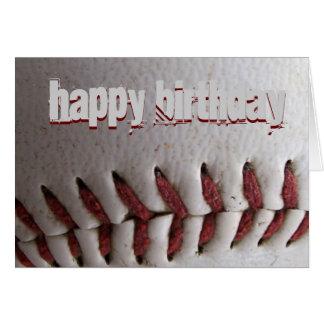 Baseball Stitches Card