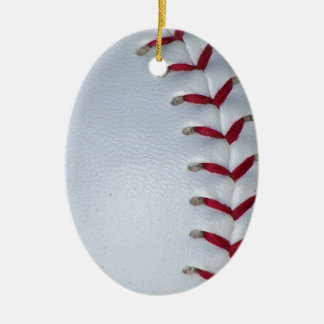 Baseball Stitches Ceramic Ornament