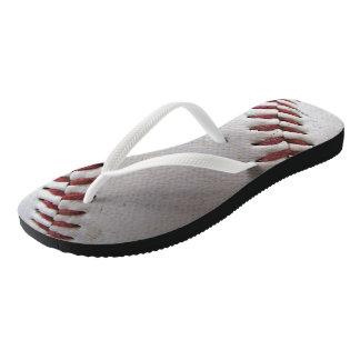 Baseball Stitches Flip Flops