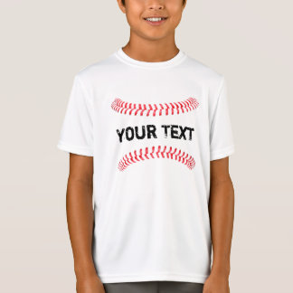Baseball Stitches Four Seam Fastball Boys T-Shirt