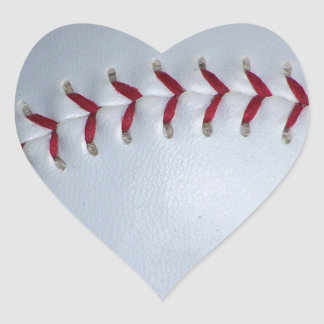 Baseball Stitches Heart Sticker