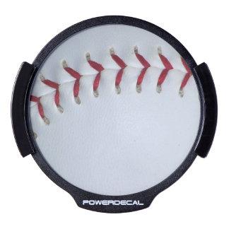 Baseball Stitches LED Window Decal