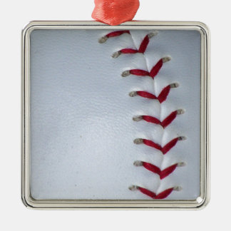 Baseball Stitches Metal Ornament