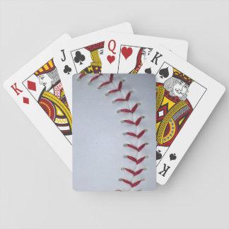 Baseball Stitches Poker Cards