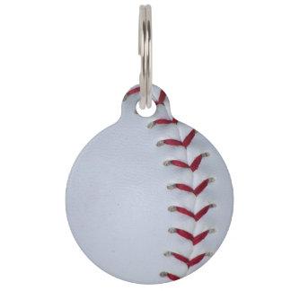 Baseball Stitches Pet Name Tag