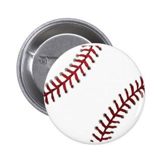 Baseball Stitches Pinback Button