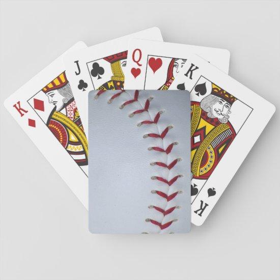 Baseball Stitches Playing Cards
