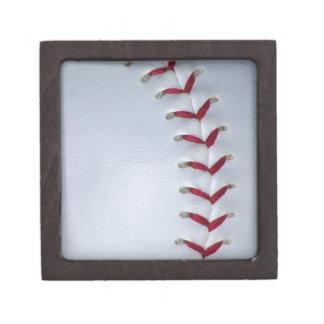 Baseball Stitches Premium Jewelry Boxes