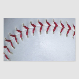 Baseball Stitches Rectangular Sticker