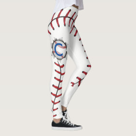 Baseball Stitches Season Leggings