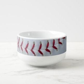 Baseball Stitches Soup Mug