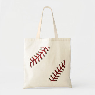 Baseball stitches tote bag
