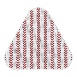 Baseball Stitches Vertical Stripes Pattern Art Bluetooth Speaker