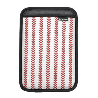 Baseball Stitches Vertical Stripes Pattern Art iPad Mini Sleeve