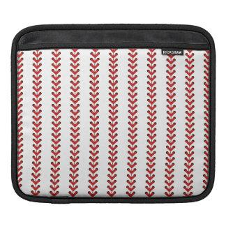 Baseball Stitches Vertical Stripes Pattern Art iPad Sleeve