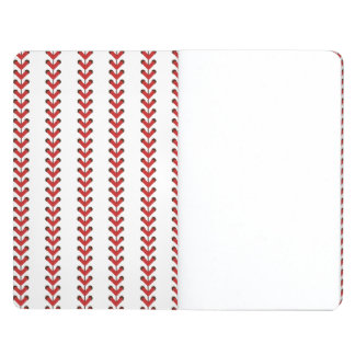 Baseball Stitches Vertical Stripes Pattern Art Journal