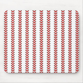 Baseball Stitches Vertical Stripes Pattern Art Mouse Pad
