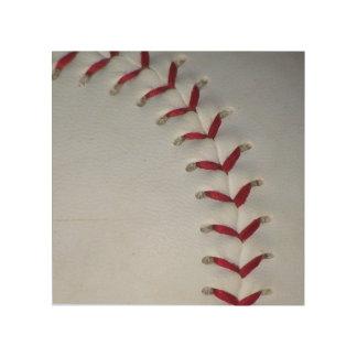 Baseball Stitches Wood Wall Art