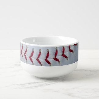 Baseball Stitches Soup Bowl With Handle