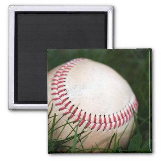 Baseball Stitching 2 Inch Square Magnet