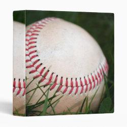 Baseball Stitching 3 Ring Binder