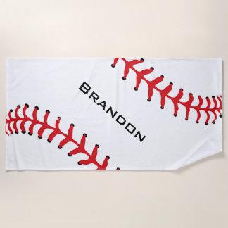 Baseball Stitching Design Beach Towel