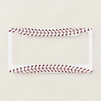 Baseball Stitching Design License Plate Frame