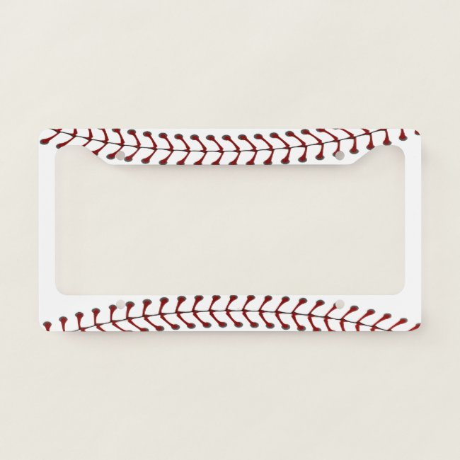 Baseball Stitching Design License Plate Frame