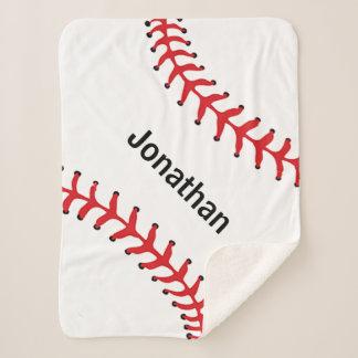 Baseball Stitching Design Sherpa Blanket