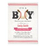 Baseball Stitching It's a Boy Sports Baby Shower Card