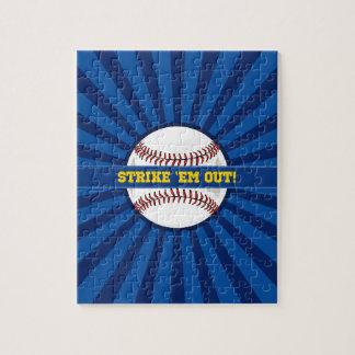 "Baseball Strike ""Em Out Jigsaw Puzzle"