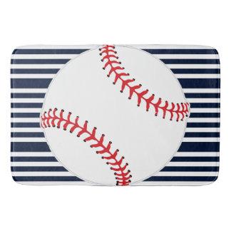 Baseball Stripes Design Bath Mat