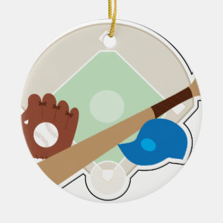 Baseball Stuff Ceramic Ornament