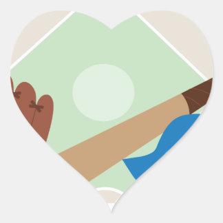 Baseball Stuff Heart Sticker