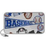 Baseball Stuff Laptop Speaker