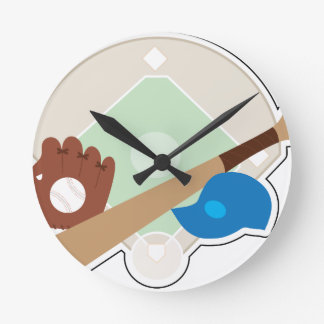 Baseball Stuff Round Clock