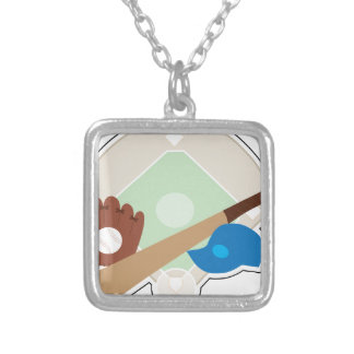 Baseball Stuff Silver Plated Necklace