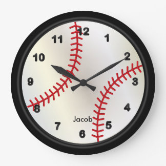Baseball Style Large Clock