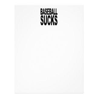 Baseball Sucks Letterhead