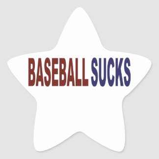 Baseball Sucks Star Sticker