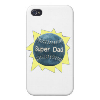 Baseball Super Dad iPhone 4 Cases