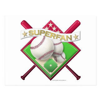 Baseball Superfan Postcard
