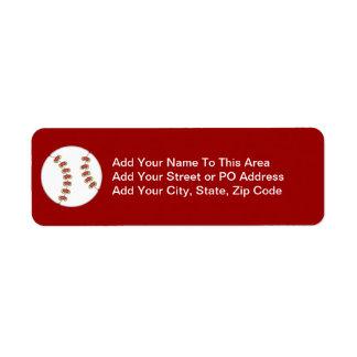 Baseball T-shirts and Gifts Return Address Label