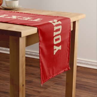 Baseball Table Decorations with Your TEXT and COLO Short Table Runner