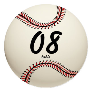 Baseball Table Number Card