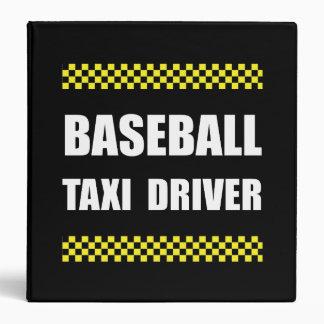 Baseball Taxi Driver 3 Ring Binder