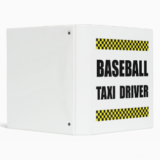 Baseball Taxi Driver Binder