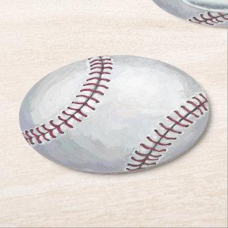 Baseball Round Paper Coaster