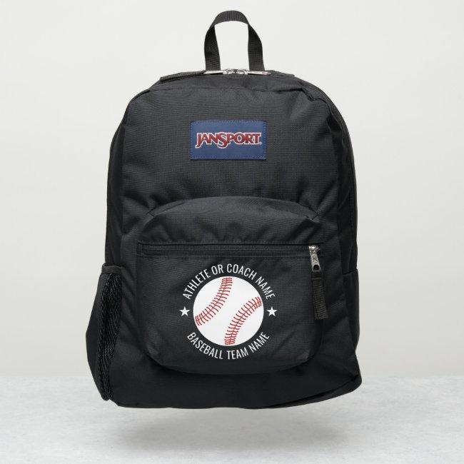 Baseball Team - Athlete Name modern design stars JanSport Backpack